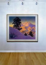 """Winter Sunrise 22x30 Hand Numbered Ltd. Edition Maxfield Parrish Art Deco Print image 2"