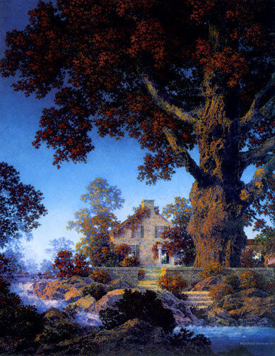 Little Stone House 22x30 Hand Numbered Edition Maxfield Parrish Art Deco Print