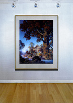 Little Stone House 22x30 Hand Numbered Edition Maxfield Parrish Art Deco Print image 2