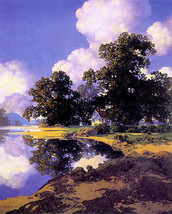 Sheltering Oaks 22x30 Maxfield Parrish Art Deco Print Hand Numbered Ltd. Edition image 1
