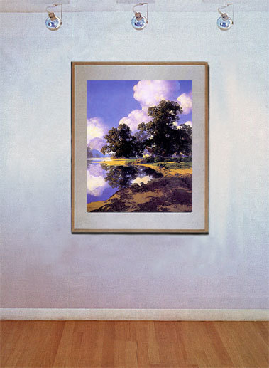 Sheltering Oaks 22x30 Maxfield Parrish Art Deco Print Hand Numbered Ltd. Edition image 2
