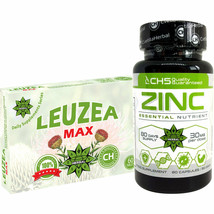 Zinc Citrate + Leuzea (Maral Root) 60 Tablets Natural Ecdysterone Immune Muscle - $45.53