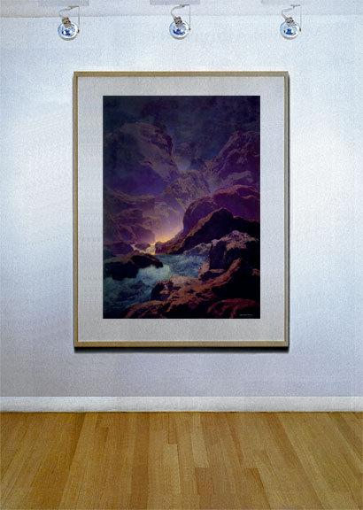 Moonlight-Parrish 22x30 Hand Numbered Ltd. Editi Maxfield Parrish Art Deco Print