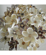 6 Seashell Bride Bouquet Flowers Beach Wedding Party Shell Floral Pick I... - $48.00