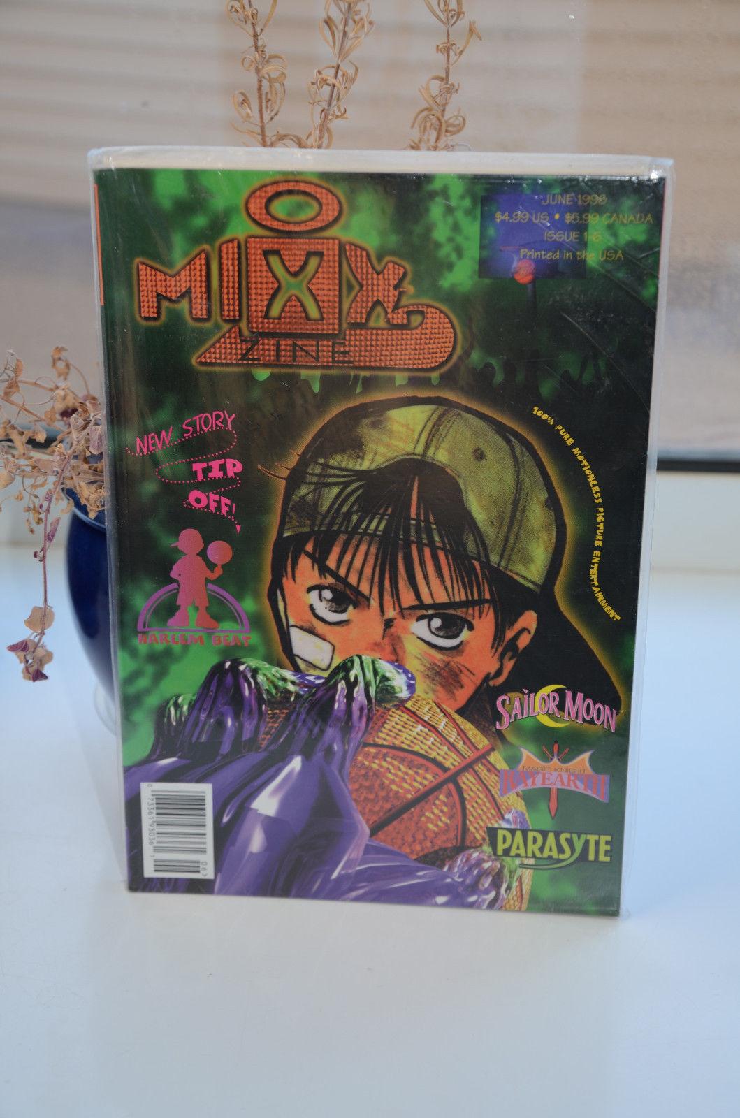 MixxZine comic manga 1 - 6 June 1998 Sailor Moon Parasyte Rayearth Harlem Beat