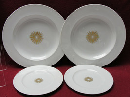ROSENTHAL China - STAR OF DAWN Classic Modern - (2) SOUP BOWLS (2) BREAD... - $36.95