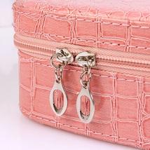 (pink)Pro Makeup Storage Bag Case Jewelry Box Cosmetic Organizer PU leat... - $30.00