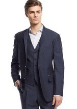 Inc International Concepts Blue Neal Linen-Blend Blazer Size MEDIUM - $49.49