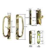 Glass Patio Door Handle Kit Mortise Lock & Keepers, B-Position, Brass, K... - $75.19