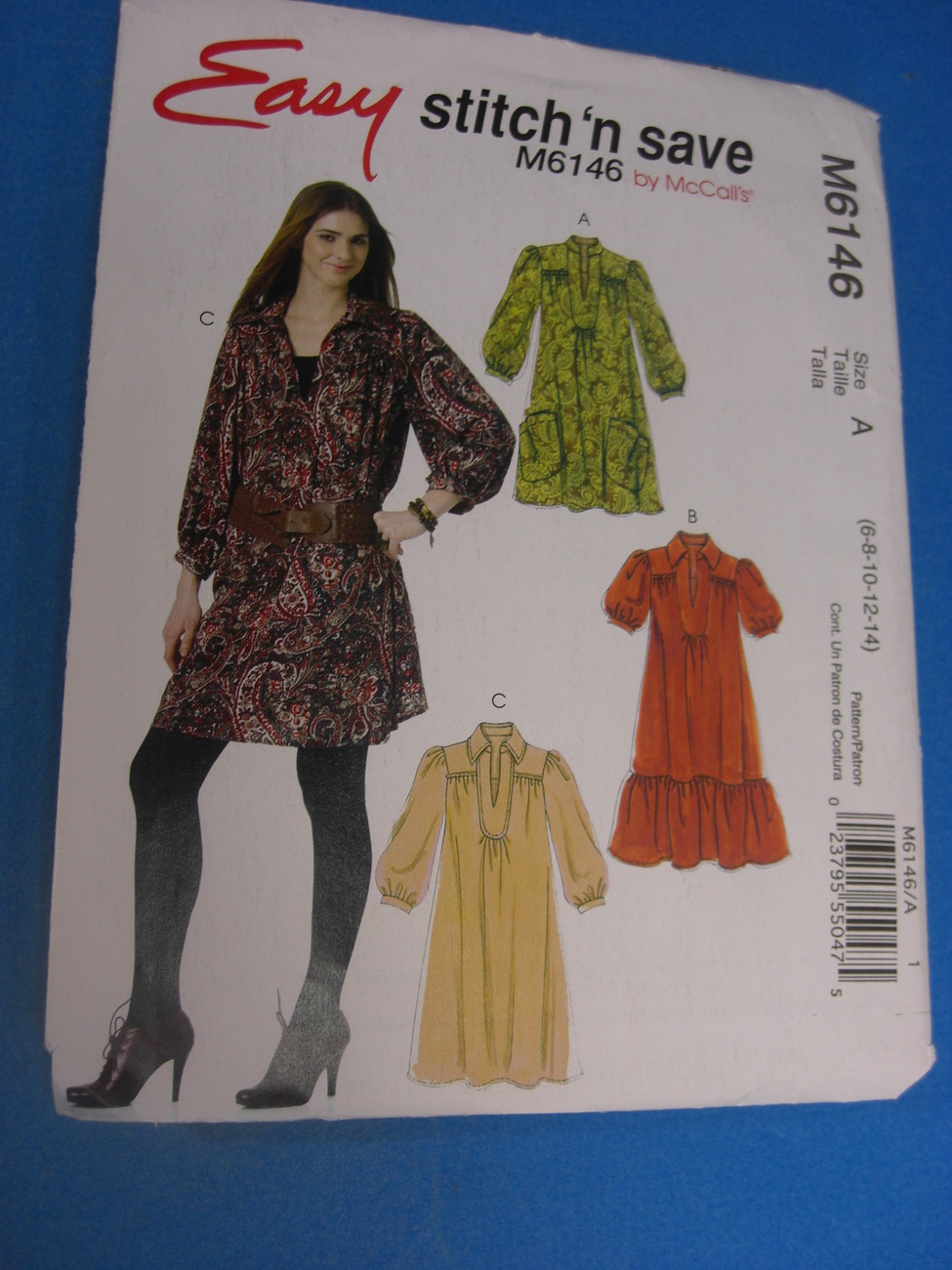 Mc Call's Easy Stitch 'n Save M6146 Pattern Size A