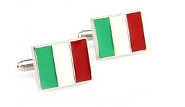 italienische Flagge Italien Manschettenknöpfe Frederick Thomas ft1249 Eu... - $24.43