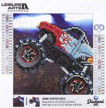 "Leisure Arts Sparkle Art Diamond Paint Kit 10.63""X10.63""-Monster Truck - $15.25"