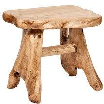 WELLAND Natural Wood Indoor/Outdoor Stool Cedar Garden Bench - $206.34