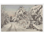 Westmoreland Road Winter Snow Scene Keene New Hampshire postcard