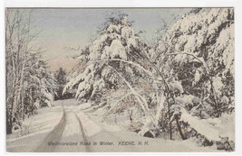 Westmoreland Road Winter Snow Scene Keene New Hampshire postcard - $6.73