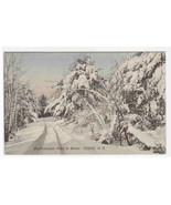 Westmoreland Road Winter Snow Scene Keene New Hampshire postcard - $6.73