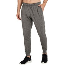 Nike Yoga Pants Dri-Fit  Gray Black Heather AT5696 - $52.24
