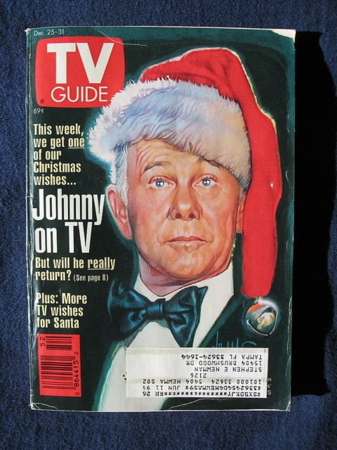 TV Guide 1993 Johnny Carson Christmas Issue 12/25 - 12/31 Holiday Wish List