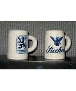 Lowenbrau & Liechen Enesco Ceramic Mini Mugs Vintage Made in Japan Candles - $19.34