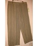 Valerie Stevens New Casual Slacks Size 10 Cropped Pants Brown Variable S... - $14.50