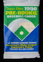 1990 MLB Pre Rookie Baseball Cards Sealed Pack Minor League Limited Quantities image 1