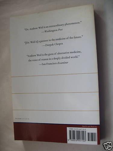 Andrew Weil 8 Weeks to Optimum Health Paperback NM Natural Healing Powers Diet image 2