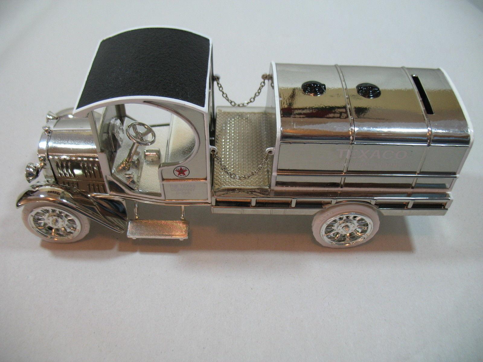 Ertl 1919 Texaco GMC Tanker Truck Special Chrome Millennium Edition Die Cast image 8