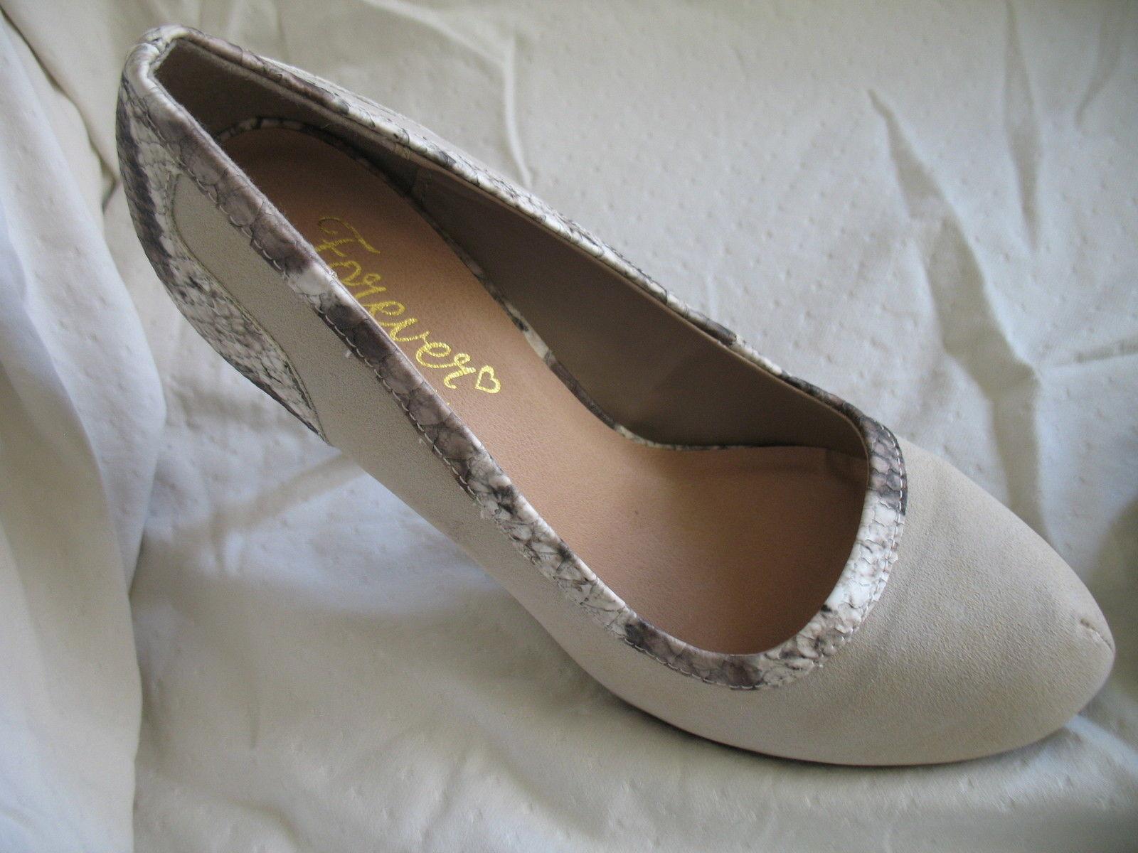 Forever Paula Abdul Size 8 Exotic Print Pump New High Heel Beige Avon Club Style image 4