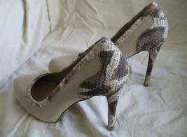Forever Paula Abdul Size 8 Exotic Print Pump New High Heel Beige Avon Club Style image 2