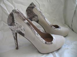 Forever Paula Abdul Size 8 Exotic Print Pump New High Heel Beige Avon Club Style image 1