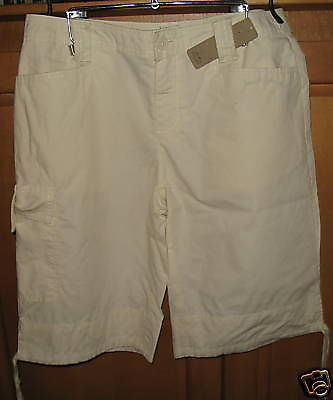 New Misses Shorts Size 4 i.e. Relaxed Cream Color Sheer Nwt Cotton Fashion Style