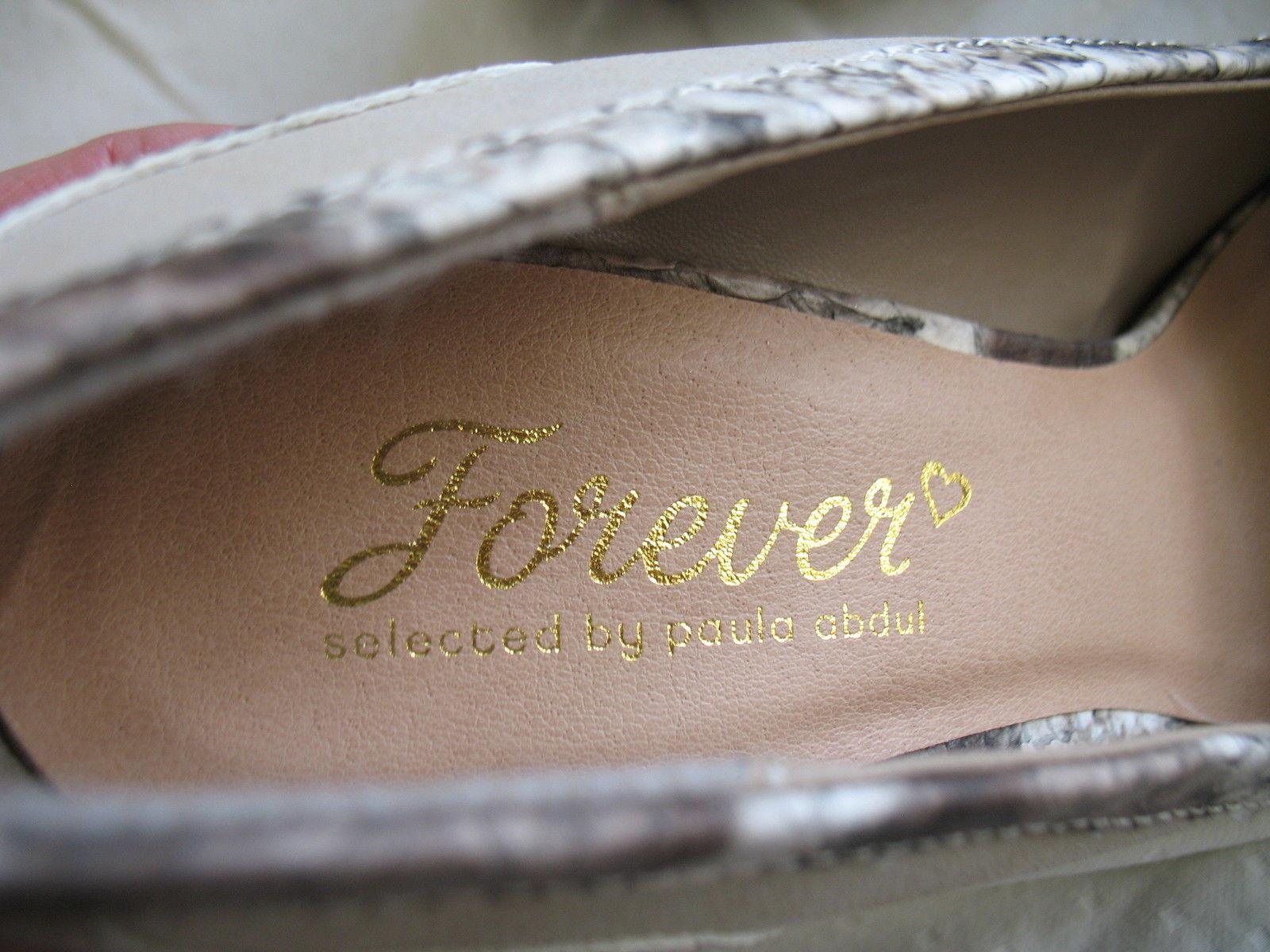 Forever Paula Abdul Size 8 Exotic Print Pump New High Heel Beige Avon Club Style image 7