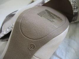 Forever Paula Abdul Size 8 Exotic Print Pump New High Heel Beige Avon Club Style image 8