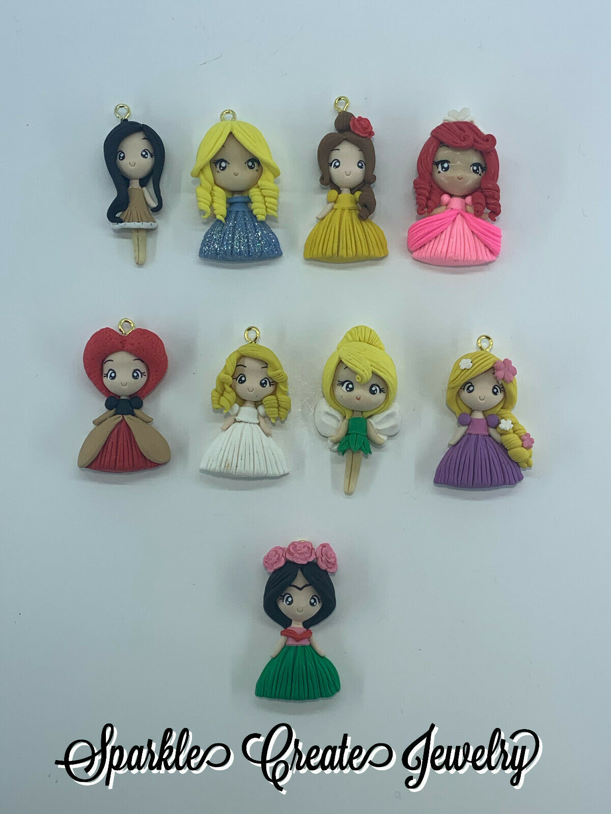 Princess Clay Pendant