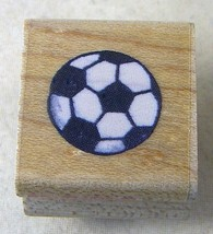 Stampendous Rubber Stamp Little Soccer Ball A025 1994 .75 Inch - $2.99