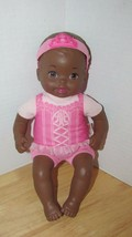 Fisher Price Baby So New Doll Little Mommy pink ballerina African Americ... - $10.68