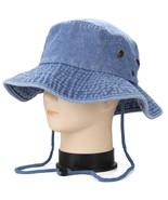 Denim Blue Boonie Bucket Hat Cap Hunting Summer Men Sun 100% Cotton Size... - $21.90