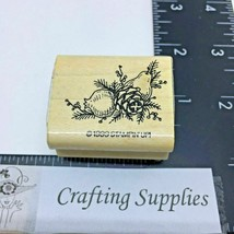 Stampin Up Rubber Stamp Pear Pinecone Baughs Corner Stamp 1999 Harvest Holiday - $3.90
