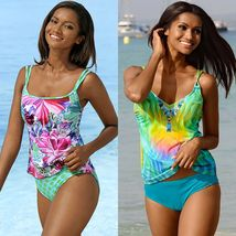 Women Strappy Tankini Swimsuit Swimwear Ladies Bikini Beachwear Swimming Costume image 1