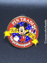 Disney Pin Tokyo Disneyland Official Trading Logo PTP Mickey FREE SHIP - $10.99