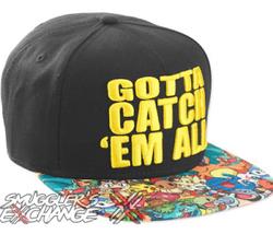 POKEMON GOTTA CATCH EM ALL HAT, Nintendo Pikachu Snap Back, Adult Size, ... - $19.99