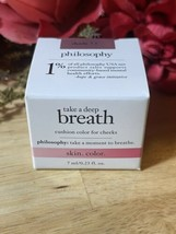 Philosophy Take Deep Breath Cushion Color For Cheeks Shade 7.5 Blush New Sealed - $13.61