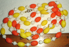 "Vtg Oranges Lemons Citrus Fruit Salad Lucite 46"" Choker Necklace Bracelet Lot 6! - $287.99"