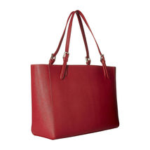 Tory Burch Robinson Kir Royal Red Saffiano Leather York Buckle Tote Bag NWT image 7
