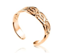 9ct Solid Yellow GOLD Celtic Knot Toe Ring - $70.00