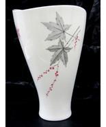 Signed Zeh Scherzer Bavaria Germany Porcelain Vase Exquisite Leaf Design... - $45.95