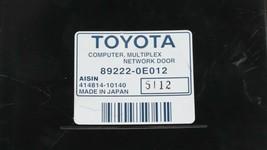 Toyota Multiplex Network Tailgate Module 89222-0e081 image 2