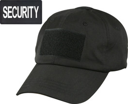 Black Tactical SECURITY Operator Cap with Removable PVC Security Patch - $12.99