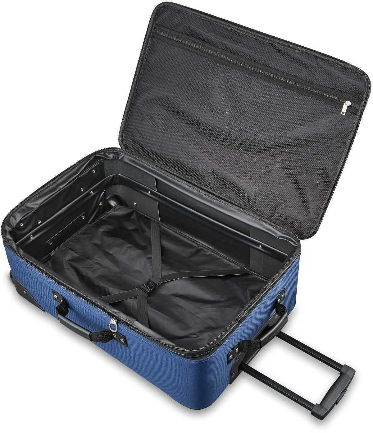 3-Piece Luggage Set Navy Travel Rolling Carry On Suitcase Wheels Boarding Bag