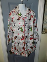 Peanuts Plaid Button Up Nightgown Size S Girl's NEW - $24.03